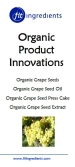 Organic Grape Seed Products